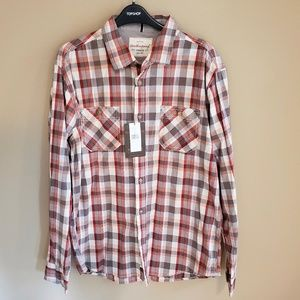 NWT Weatherproof Men's Plaid Dress Shirt
